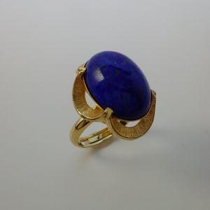 Vintage Lapis Lazuli Cocktail Ring